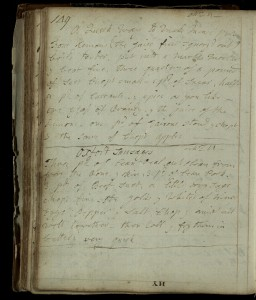 Another recipe (one of the winners) from the St. Andrews collection c.1760