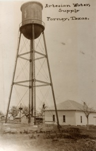 Forney tank built over the well, 1910.
