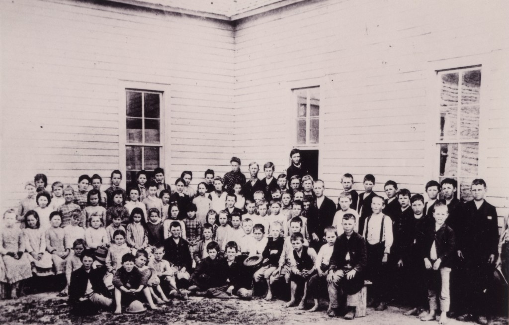 Students at North Forney public school, 1888.